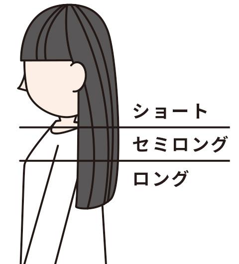 髪の長さイメージ